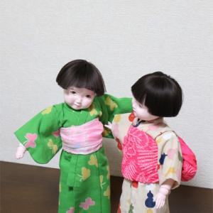 夏日になりましたね(*´▽`*) 幼子ちゃんズ単衣きもの完成しました。