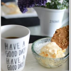 美味しいアイスとクッキーでティータイム~♪