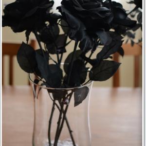 カッコイイ黒い薔薇~♪