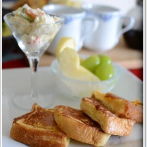 休日の朝食~フレンチトースト~♪