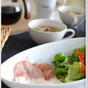 野菜たっぷりのスープがある朝食~♪