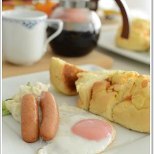 ワンプレートな休日の朝食~♪