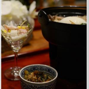 我が家の夕食~1人鍋ですき焼き定食~♪