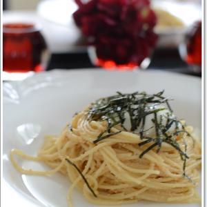 平日のお昼ご飯は明太子スパゲティー~♪