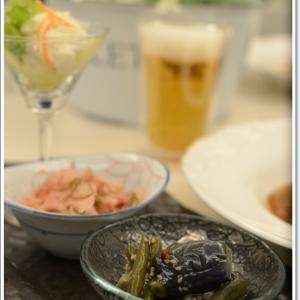 豆腐ハンバーグがメインの優しい夕食~♪