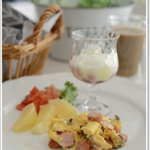 さっと作った休日の朝食~♪