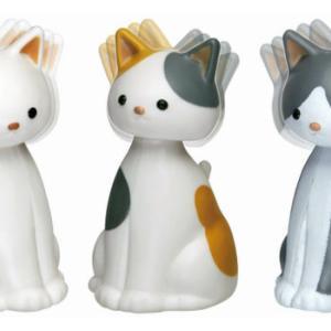 頭ゆらゆらニャンコのバブルヘッドフィギュアがガチャに登場!「ゆらゆら子猫」
