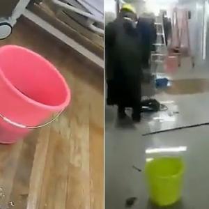 【動画】中国、10日で建設した武漢の臨時病院、5日で大規模な水漏れが発生! [海外]
