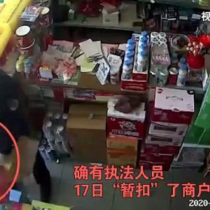 【動画】中国、疫病時に勝手に営業した店に城管来て、取り締まりと称し店の商品を強奪 [海外]