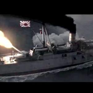 【動画】中国の日清戦争の映画の海戦シーンが大迫力でカッコいい!はためく旭日旗~!