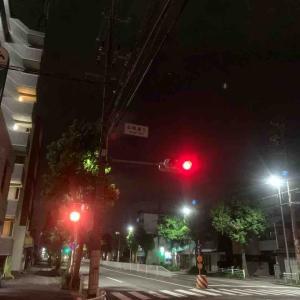 9月8日夜ラン14㎞本陣通5丁目
