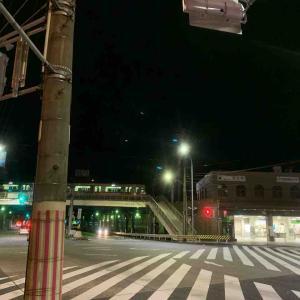 7月22日夜ラン14㎞栄生駅