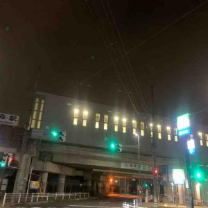 7月29日夜ラン19㎞近鉄烏森駅