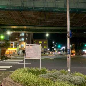 8月1日夜ラン21㎞岩塚駅