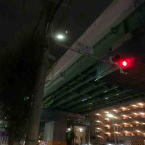 9月19日夜ラン18㎞畑江通5丁目交差点