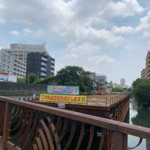 7月24日昼ラン13㎞幅下橋