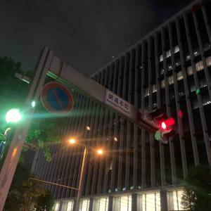 8月2日夜ラン7㎞錦通本町