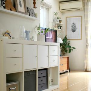 IKEAリビング収納の変化