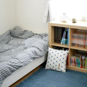 息子の部屋 IKEAからH&M home の布団カバーに