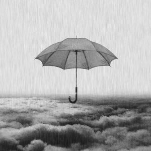 雨を眺めながら