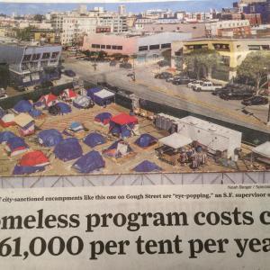 ホームレスとコロナ対策の莫大な経費、サンフランシスコ。