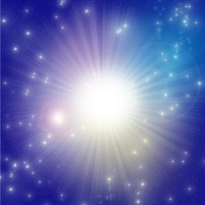 意識上での解脱が完了すると、オーラが白く光り輝きます!