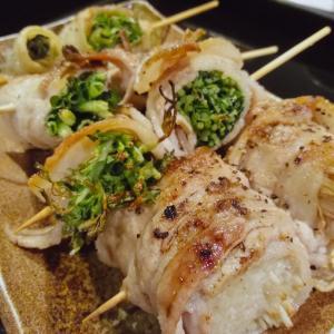 「とりえもん TORIEMON」みんなで野菜巻き串とモツを(`・ω・´)ワイワイ