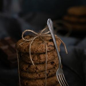 食べる前に撮る@チョコチップクッキー