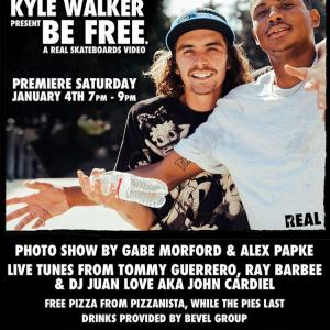 REAL SKATEBOARDS「BE FREE」