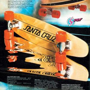 A 70s era SANTA CRUZ SKATEBOARDS advertisement