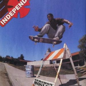 """'90s INDEPENDENT ad. featuring """"Gershon  Mosley"""""""
