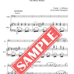 チェロとピアノのための、「メリー・ウィドウ」セレクション