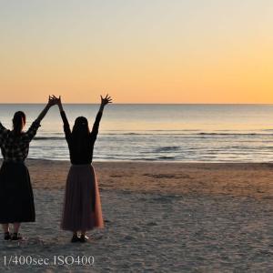 神在月の快晴の稲佐の浜
