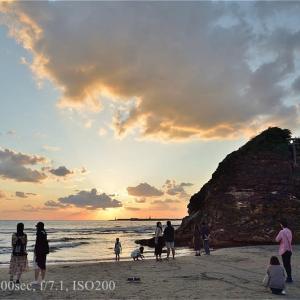 GoTo稲佐の浜の夕日