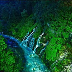 真夜中のしらひげの滝・・・。