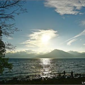 支笏湖 夕景・・・。