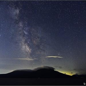 支笏湖 ペルセウス座流星群・・・。