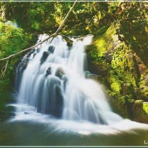 美深町 女神の滝・・・。