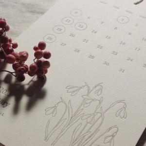 3年連続リピート買い☆シンプルで美しいカレンダー