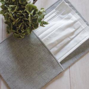 【丸洗いOKで衛生的】ナチュラルな素材感が魅力、見えてもおしゃれなシンプルマスクケース