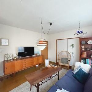 〈北欧ヴィンテージ家具は10点以上〉築40年、古さを楽しむわが家のリビング内覧会