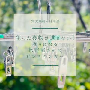 【質実剛健な日用品】狙った獲物は逃さない!頼りになる松野屋さんのピンチハンガー