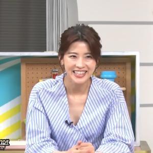 NTV日本テレビ 郡司恭子 「夜バゲット」200530 胸元が気になる服