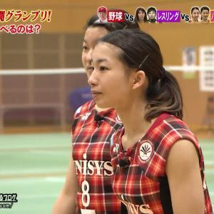 松友美佐紀 「炎の体育会TV」170121 大繩グランプリで胸元露出