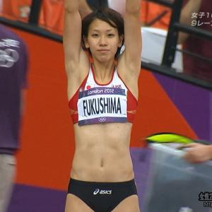 福島千里 「ロンドンオリンピック」120804 女子100m予選