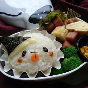 ハロウィン♪〜スヌーピーのお弁当箱のおばけちゃんのおにぎりのお弁当〜
