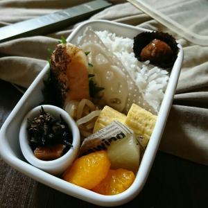 野田琺郷容器で鮭弁〜いちばんのお弁当〜火傷の傷痕がね