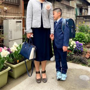 次男くん、入学式