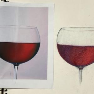色鉛筆画 と イタリアン と 黒ラブのクラン