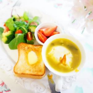 【あったかトキメキスープ2種】で週末ワンプレート